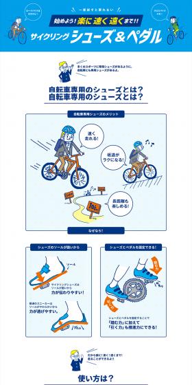 サイクリングシューズ&ペダル