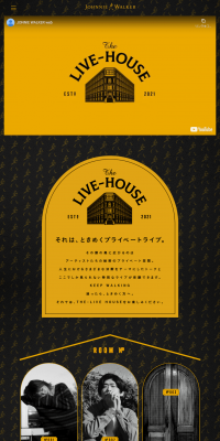"""JOHNNIE  WALKER PRESENTS """"The LIVE-HOUSE"""""""