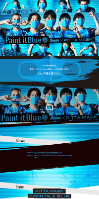 PITTA MASK FRONTALE BLUE